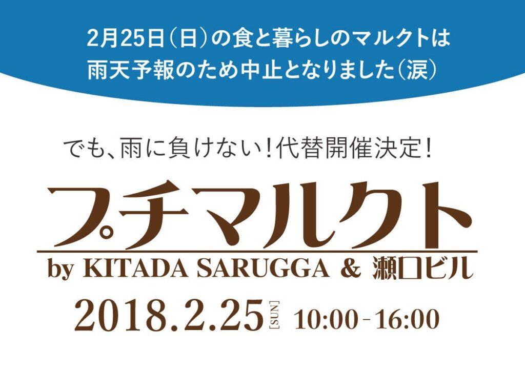 2/25開催☆プチマルクトレポート(KITADA SARUGGA編)